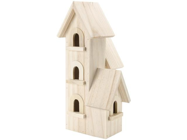 Natural Wood Manhattan Birdhouse-12