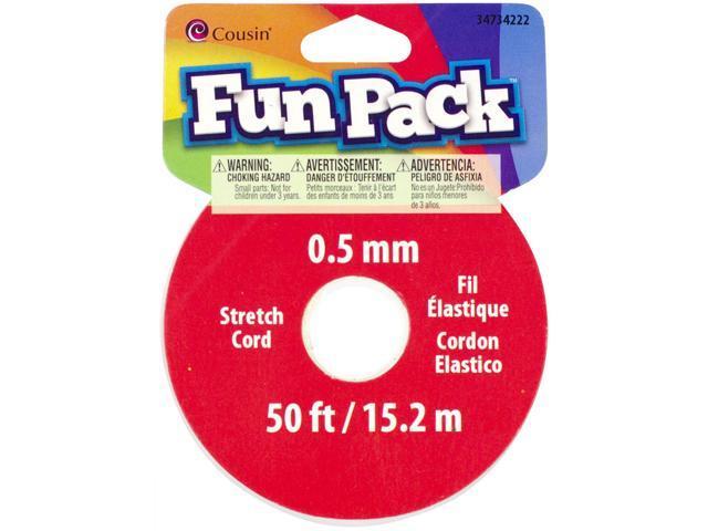 Fun Pack Stretch Cord Spool .5mmX50'-Clear