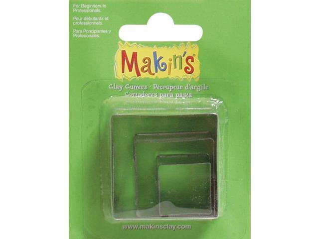 Makin's Clay Cutters 3/Pkg-Square