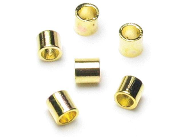 Jewelry Basics Metal Findings 500/Pkg-Gold Crimp Tubes 2mm