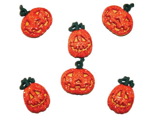 Dress It Up Holiday Embellishments-Glitter Pumpkins