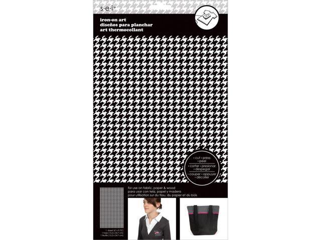 Transfer Sheet-Black/White Houndstooth