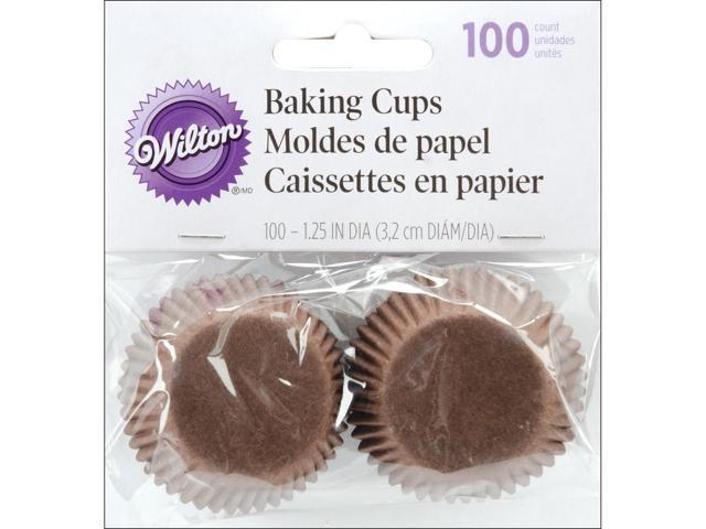 Baking Cups-Brown 100/Pkg-Mini