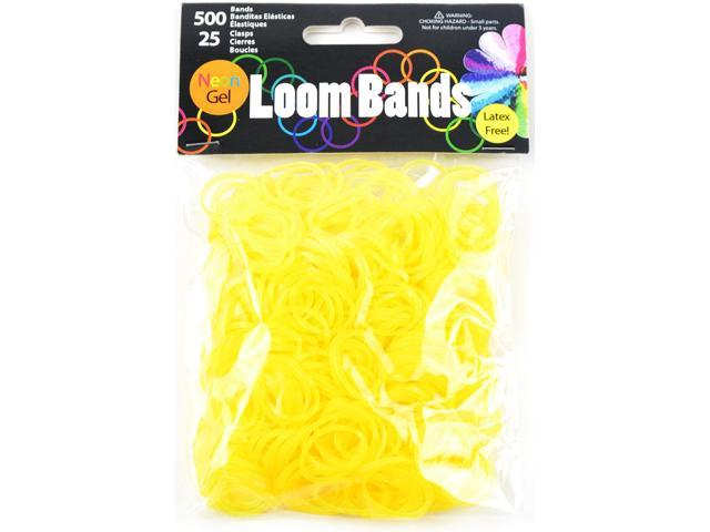 Gel Loom Bands 500/Pkg W/25 Clasps-Yellow