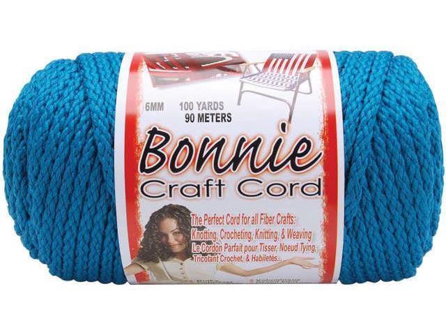Bonnie Macrame Craft Cord 6mmX100yd-Sapphire Teal