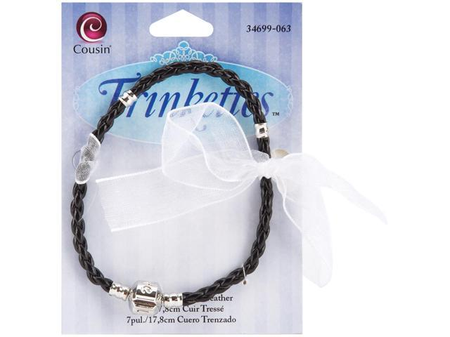 Trinkettes Leather Bracelet 1/Pkg-Black