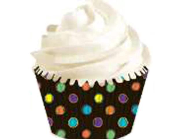 Mini Baking Cups-Black W/Neon 100/Pkg