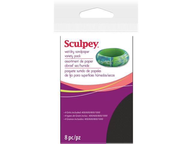 Sculpey Wet/Dry Sandpaper Variety Pack 8/Pkg-2.75