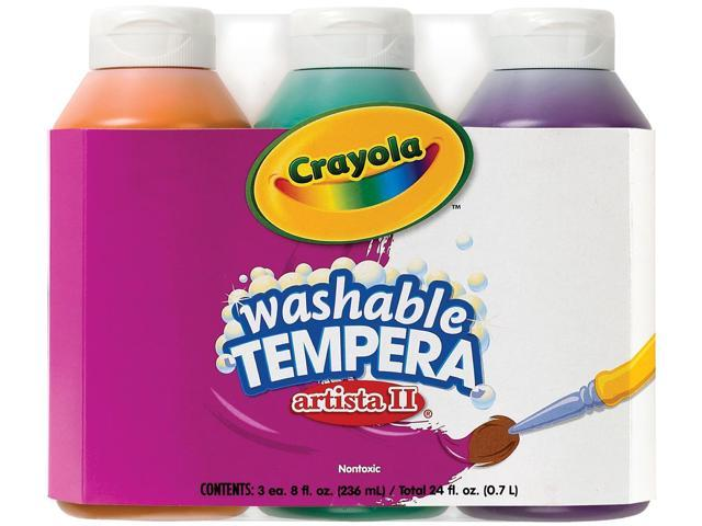Crayola Artista II Washable Tempera Paint 8oz 3/Pkg-Secondary