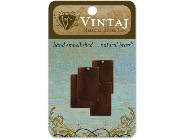 Vintaj Metal Blanks-Rectangles 22mm 4/Pkg