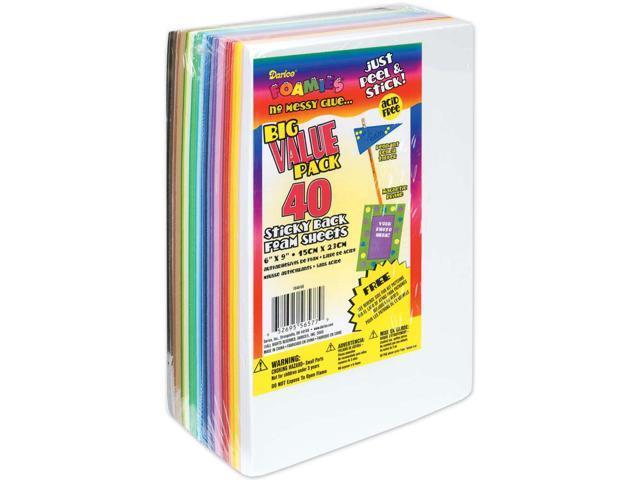 Sticky Back Foam Sheets Value Pack 6