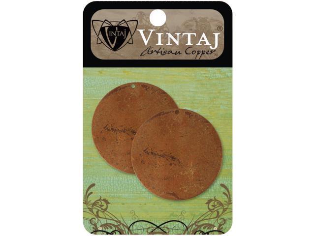 Vintaj Metal Altered Blanks-Large Circles 33.4mm 2/Pkg