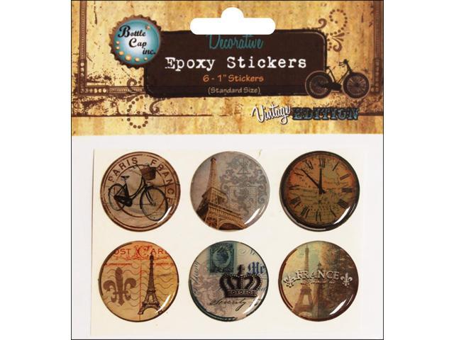 Bottle Cap Inc Vintage Epoxy Stickers 1
