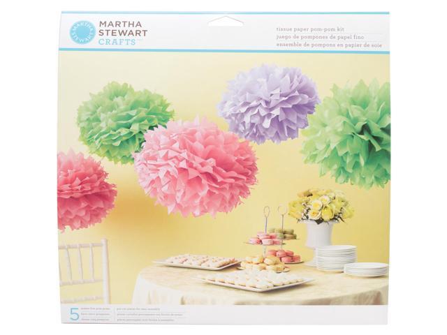 Tissue Paper Pom-Pom Kit Makes 5-Colorburst