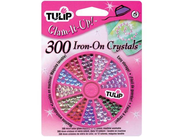 Tulip Glam-It-Up! Iron-On Crystals 300/Pkg-Assorted Colors