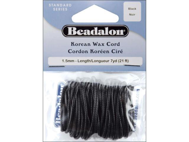 Korean Wax Cord 1.5mmX7yd-Black