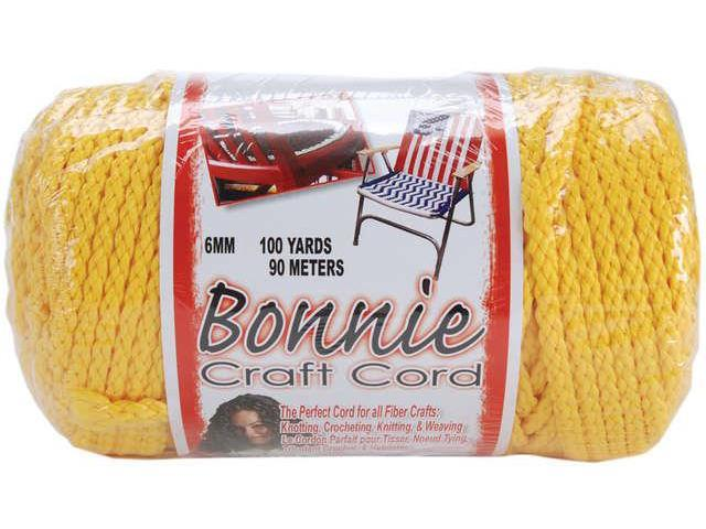 Bonnie Macrame Craft Cord 6mmX100yd-Sunshine Yellow