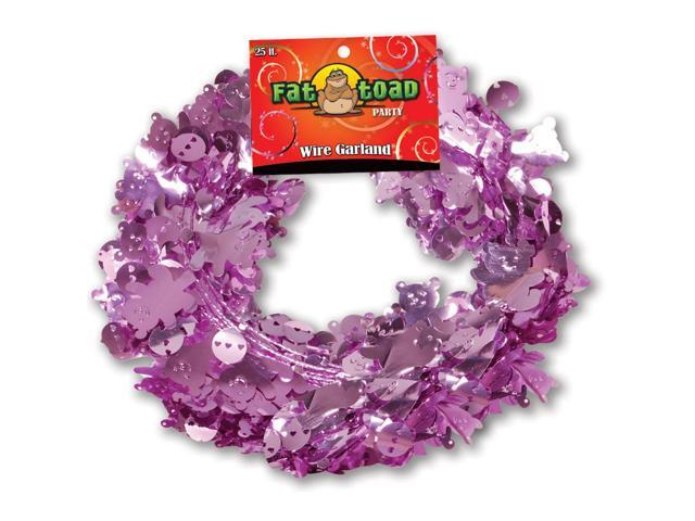 Fat Toad Wire Garland 25'-Pink Baby Bears & Rattles