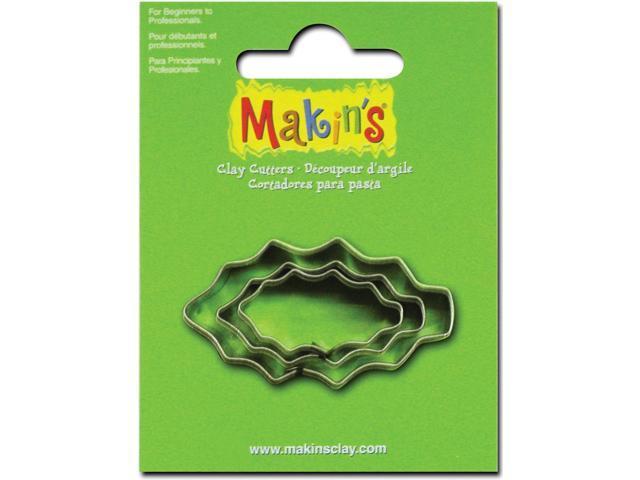 Makin's Clay Cutters 3/Pkg-Holly Leaf