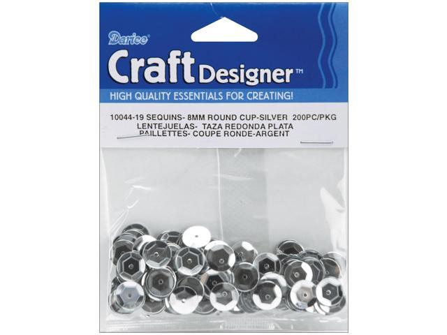 Cupped Sequins 8mm 200/Pkg-Silver