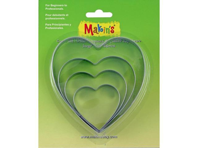 Makin's Clay Cutters 4/Pkg-Heart