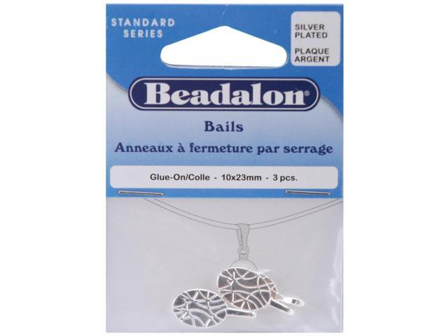 Bails 10mmX23mm 3/Pkg-Silver-Plated