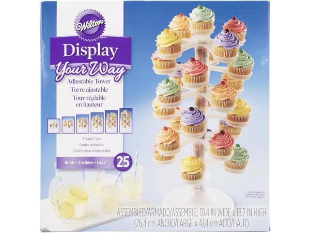 Adjustable Cupcake Tower-Clear 18.75