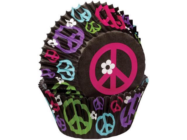 Baking Cup-Peace 75/Pkg-Standard
