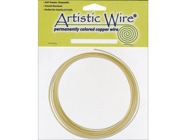 Artistic Wire-Non-Tarnish Brass - 16 Gauge, 10'