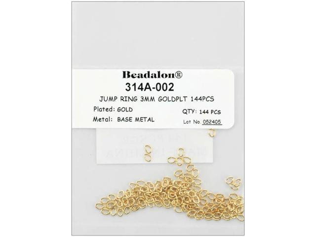 Jump Rings 3mm 144/Pkg-Gold-Plated