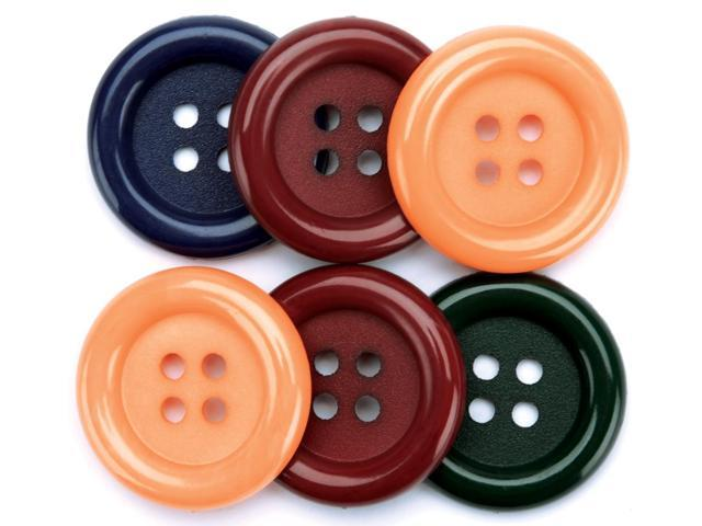 Favorite Findings Big Buttons 6/Pkg-Country