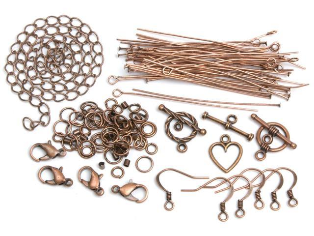 Jewelry Basics Metal Findings 145/Pkg-Copper Starter Pack