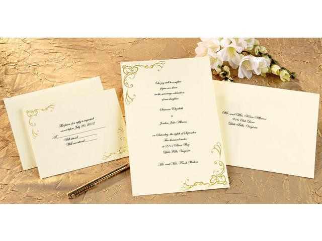 Invitation Kit Makes 50-Scrollwork