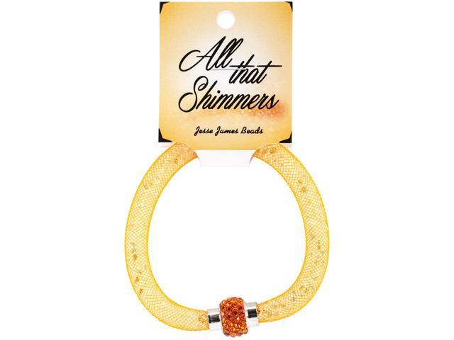 All That Shimmers Readymade Bracelets-Orange