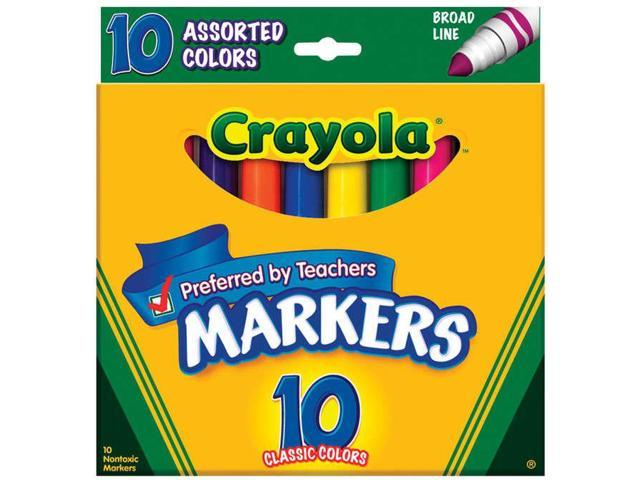 Crayola Broad Line Markers-Assorted Colors 10/Pkg