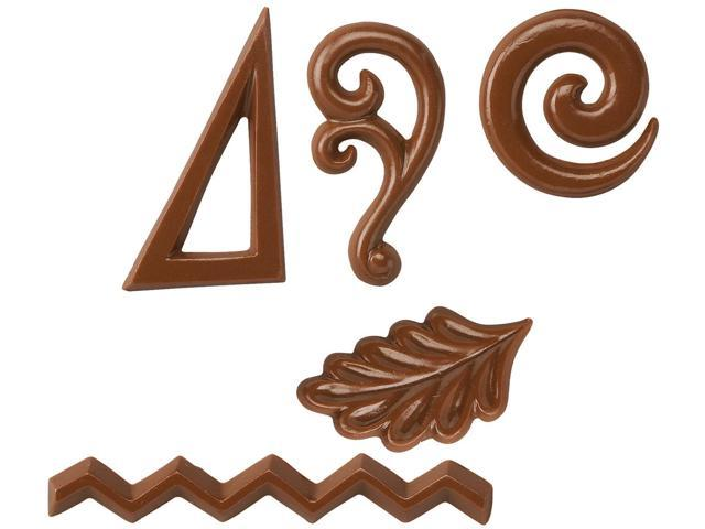 Wilton DESSERT ACCENT CANDY MOLD Swirls Scrolls Zigzags