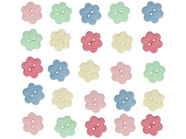 Dress It Up Embellishments-Flower Buttons - Cheerful Bouquet