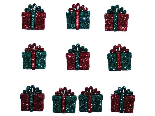 Dress It Up Holiday Embellishments-Small Glitter Presents
