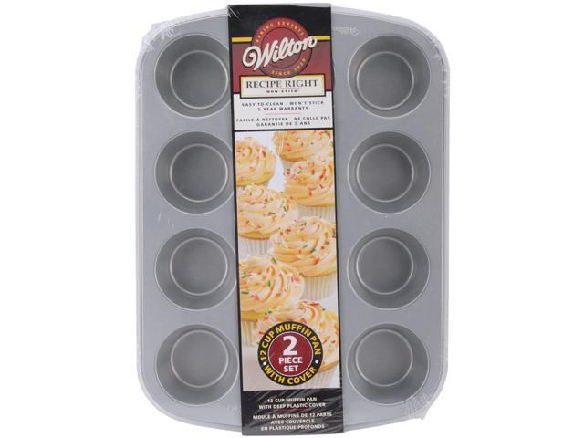 Recipe Right Covered Muffin Pan W/Clear Lid-12 Cavity 2.75