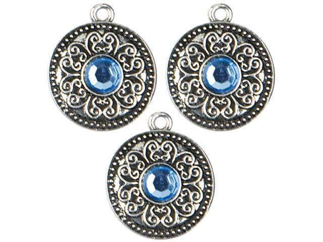 Jewelry Basics Metal Charms-Large Silver Scrolls 3/Pkg