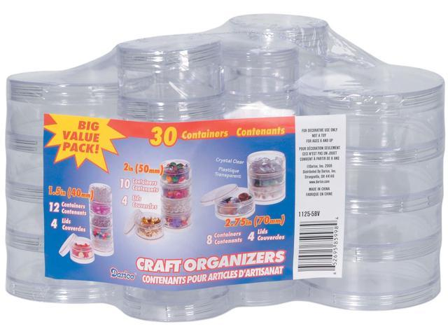 Craft Organizers Stackable Circles Set-Clear