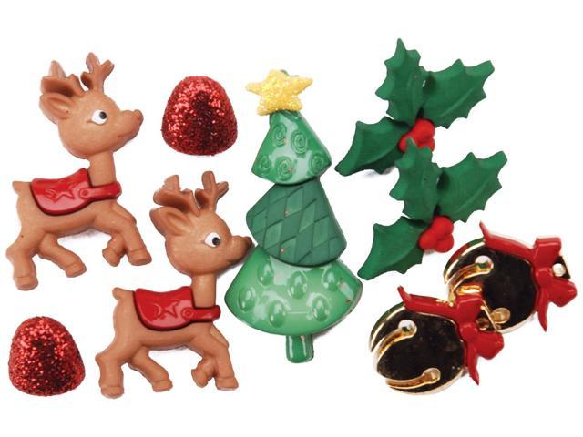 Dress It Up Holiday Embellishments-Reindeer Games