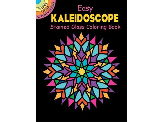 Dover Publications-Kaleidoscope Stained Glass Clr Bk