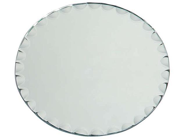 Round Glass Mirror W/Scallop Edge Bulk-8