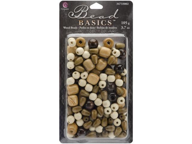 Jewelry Basics Wood Beads 3.7oz-#2