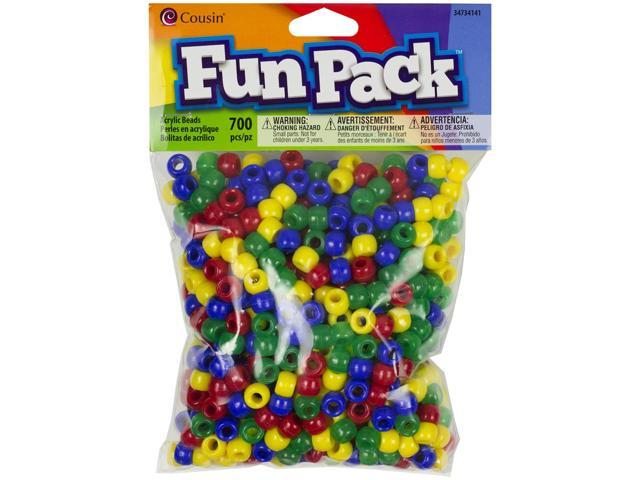 Fun Pack Acrylic Pony Beads 700/Pkg-Primary