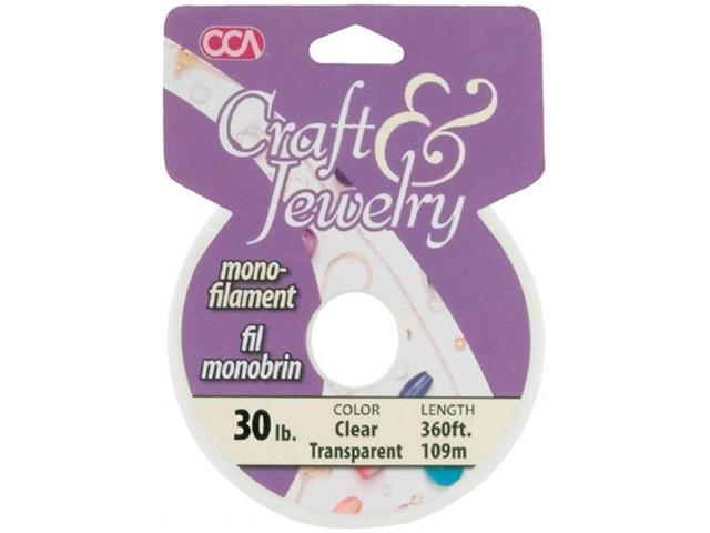 Cord Basics Monofilament Cord 30lb 300'-Clear