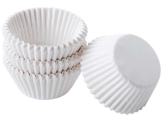 Baking Cups-White 100/Pkg - Mini