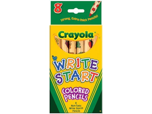 Crayola Write Start Colored Pencils-8/Pkg Long