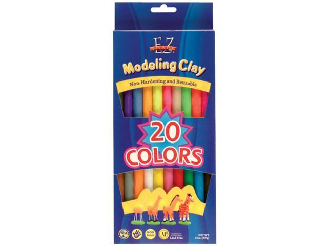 EZ Shape Non-Hardening Modeling Clay 13oz 20/Pkg-Assorted